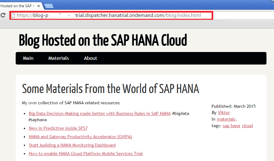 SAP HANA Cloud Pelican Blog